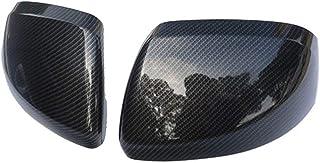 Ersatz Carbon Faser Farbe Tür Flügel Spiegel Abdeckung Rückansicht Overlay 2014 2018 for Mercedes Benz Vito Valente Metris W447 Autozubehör (Color : Black)