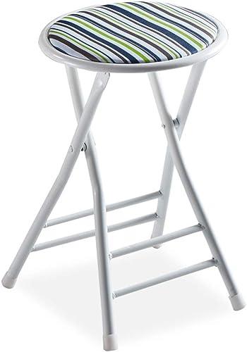 SYTPZ SMQ Tabouret Rond portable de Chaise Pliante de Loisirs dinant la Chaise de Dossier Dossier d'ordinateur Chaise Pliante extérieure
