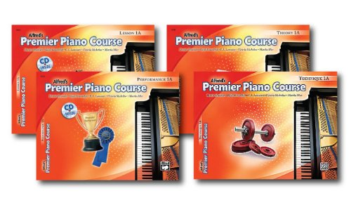 Alfred's Premier Piano Course Series Level 1A- Four Book Set - Includes Lesson, Theory, Performance and Technique Books