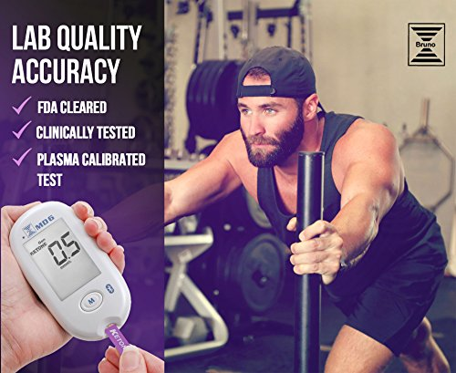 Bruno MD6 Blood Ketone & Glucose Monitoring System | Track Your Ketones & Ketogenic Diet Progress | Ketosis Test Kit with Lancing Device, 10 Keto Strips + 50 Lancets 4