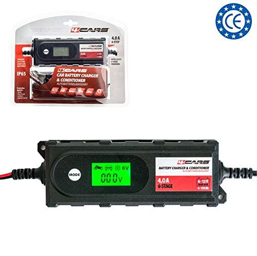 Smart Autobatterie-Ladegerät / Maintainer / Conditioner, 12 Volt vollautomatisches 6-stufiges Ladegerät, bis zu 4,2 A bewertet, IP65