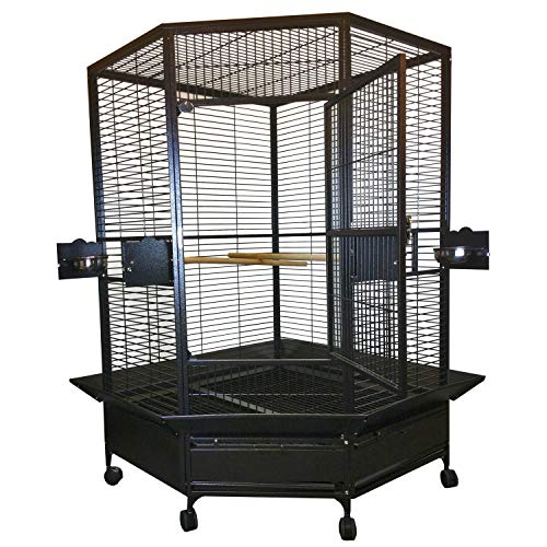 A&E CAGE CO Extra Large Corner Cage, Platinum