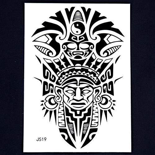 Handaxian 3pcsBody Indian Totem Kunstgeschichte Retro Schwarze Arme tätowieren Aufkleber Piktogramm