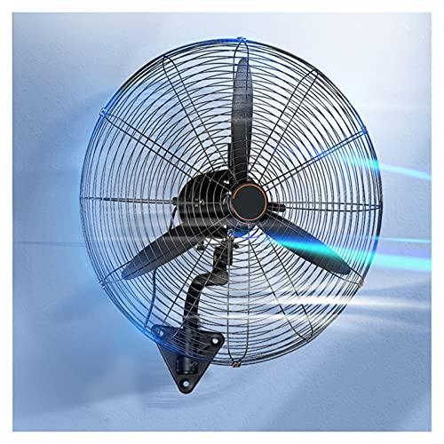 YSJX Ventiladores de Pared Negros,Ventilador de refrigeración oscilante/Giratorio,Ventilador Industrial de 3 velocidades,Potente enfriamiento,para Garaje,Sala de Estar,Hotel (Size : 68cm)