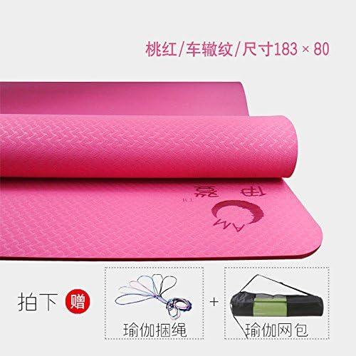 YOOMAT Caoutchouc Naturel PU de Luxe Yoga Mat Turc est Bloc-Line Starter Anti-Slip de Lettrage Nom, 6Mm (Starter) [Cherry rouge 80 W-124874
