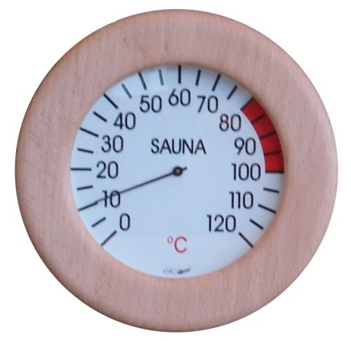 Ronde sauna thermometer
