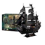XUEER 3D Puzzles Barco Pirata Y Barco De Velero Black Pearl Kit De Modelo Altamente Difícil Barco...