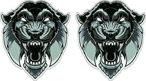 Tiger Kopf Aufkleber 10cm schwarz-weiss Art Tattoo Oldschool Auto Sticker / Plus Schlüsselringanhänger aus Kokosnuss-Schale / Auto Motorrad Helm Laptop Windows Hund Tiere Katze Wolf Tiger Löwe