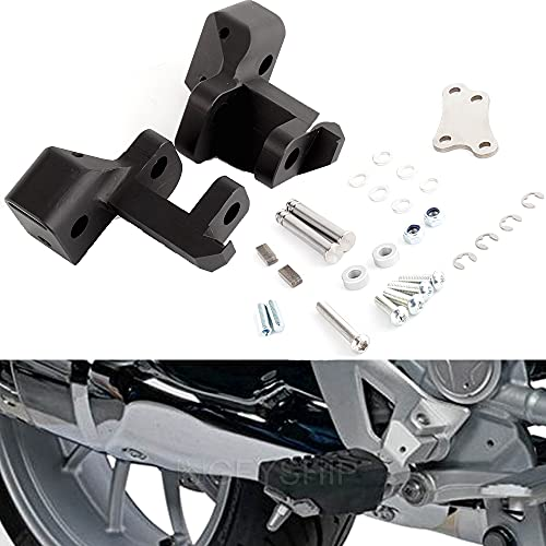 For BMW R 1200 RT 2014-2018, R 1250 RT 2019 2020 2021 Kit para Bajar Las estriberas de la Motocicleta Estribos Delanteros para el Conductor Reposapiés R1200RT R1250RT R1200 R1250 RT (Black)