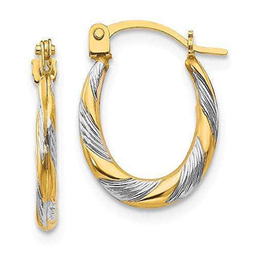 14k Yellow Gold Twist Hoop Earrings Ear Hoops Set Fine Jewelry For Women Gifts For Her (10k Rope Earrings)
