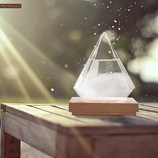 FlyWallD Weather Storm Glass Bottle Drop Creative Stylish Weather Station Forecaster Barometer, Desktop Decoration Crafts of Choice (Water Droplet+Base)