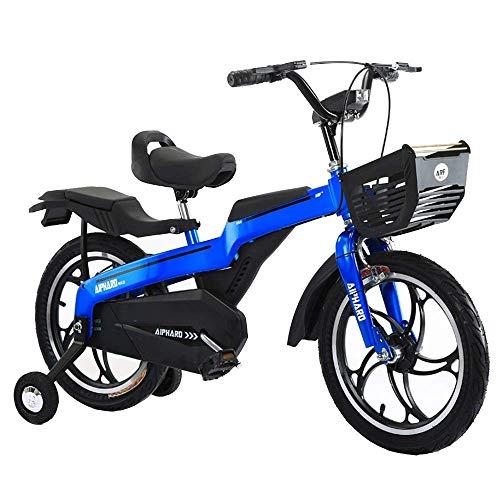 QULONG Bicicleta para niños a prueba de golpes Bicicleta para niños a prueba de golpes con rueda de entrenamiento, niños Niñas 14/16/18 pulgadas Bicicleta de niño de aleación de magnesio de alto grado