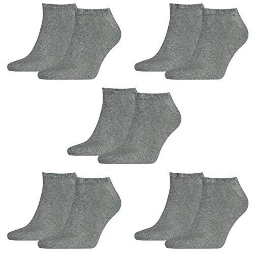 Tommy Hilfiger 10 Paar Sneaker Socken Gr. 39-49 Herren Business Socken, Farbe:758 - middle grey mélange, Socken & Strümpfe:43-46