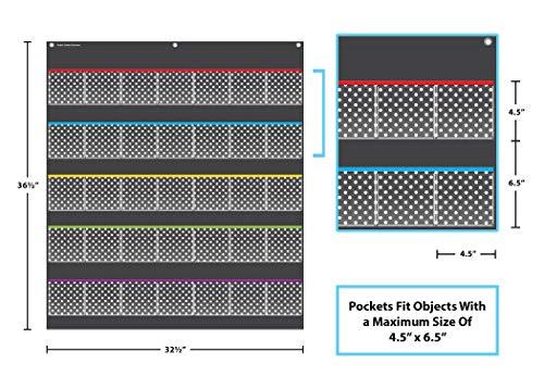 Teacher Created Resources Black Polka Dots Storage Pocket Chart (20750) Photo #2