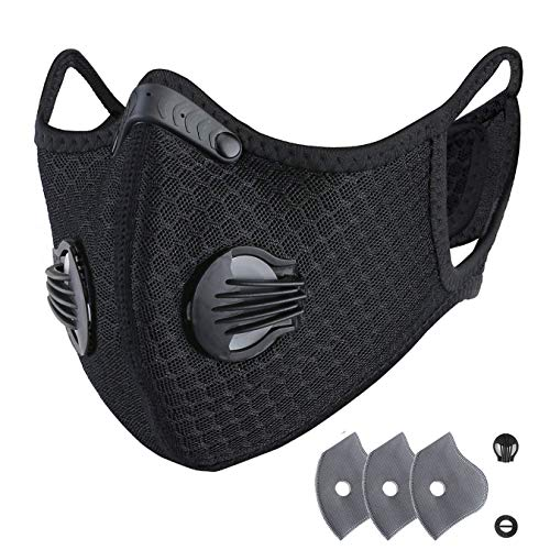 RooRuns Dust Breathing Mask Activated Carbon Air...