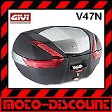 Givi V47 Monokey Topcase mit Alu Blende und roten Reflektoren