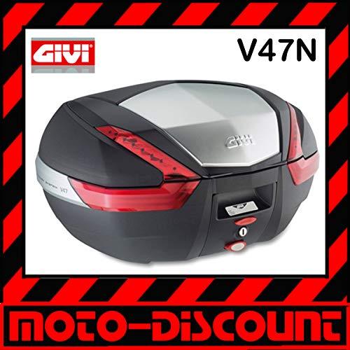 Givi V47N Monokey Baúl con Cubierta de Aluminio, Volumen 47 Litros, Carga Máxima 10 Kg