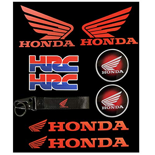 Sticker for Honda HRC Keychain for CBR Honda Wings Decals Set (9packs)