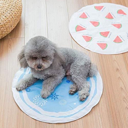 Bradoner Alfombrilla de sueño para mascotas, alfombrilla de refrigeración para mascotas, impermeable, para perros, con patrón de frutas de refrigeración para mascotas