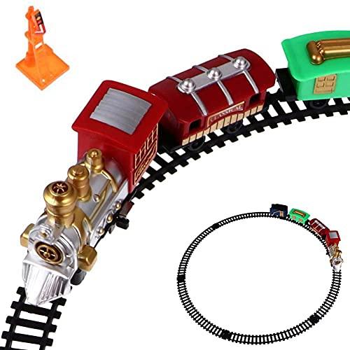 FXQIN Conjunto de Tren eléctrico clásico Retro Christmas Train Set para niños...
