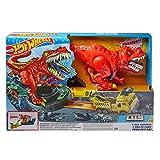 Hot Wheels City T-Rex Devorador Destructor, Pista de Coches de Juguete con Dinosaurio (Mattel...