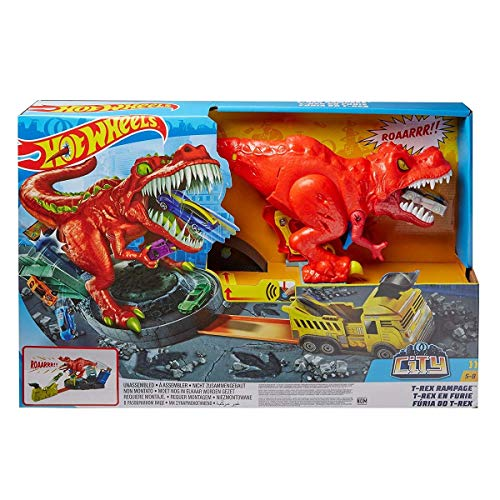 Hot Wheels City T-Rex Devorador Destructo...