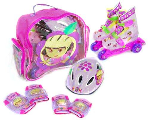 Dora la Exploradora: Set de Patines transformables en línea  Talla 35 38  Saica Toys