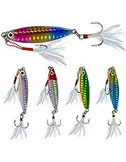N/F Yisika Señuelos de Pesca,5 Piezas de Señuelos de Pesca Set Spinner Cebos Pesca Truchas Señuelos Cebos con Agudos