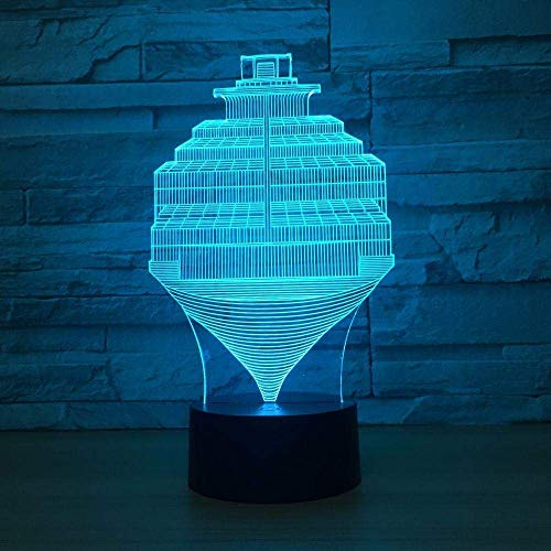 Control táctil 3D luz nocturna paso luz de ilusión abstracta USB 7 cambio de color control remoto interruptor táctil LED luz de dormitorio interior luz de decoración de fiesta