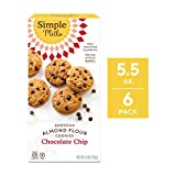 Simple Mills Crunchy Cookies, Chocolate Chip, 5.5 Ounce, 6 Count (PACKAGING MAY VARY)
