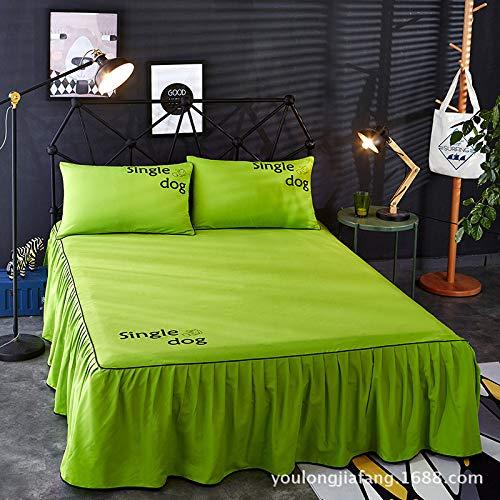 Hllhpc Effen kleur bed rok bed dekbedovertrek bed enkel stuk bed groep anti-slip bed cover