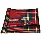 LinZX De los Hombres cl/ásicos de la Tela Escocesa Corbata para los Hombres Corbata se adaptan a Sistemas Cuadrada Boda Corbata para Hacer Negocios pa/ñuelos de Bolsillo 5 cm Corbata,Neck Tie