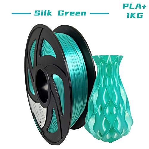 LEE FUNG PLA Plus(PLA+) 3D Printer Filament 1.75mm 2.2lbs with Spool (Silk Green)