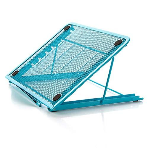 Laptopstandaard voor meervoudig gebruik,laptopstandaardradiator,antislip en in hoogte blauw verstelbaar,design leestafel fauteuil en slaapbank