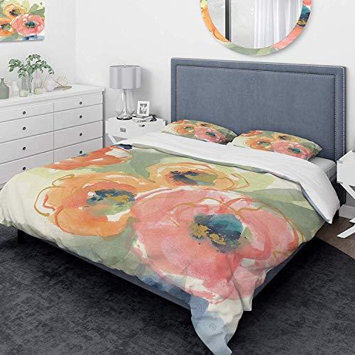 993 Duvet Cover 3 Piece Set Ultra Soft Microfiber Bedding Set Buttercup I Traditional Design