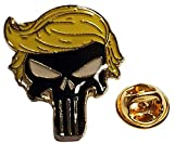 Trade Winds Wholesale Pack of 6 Trump Demon Skull Yellow Hair Motorcycle Hat Cap Lapel Pin