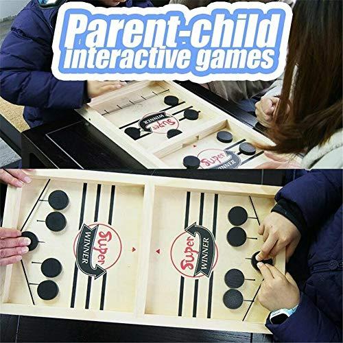 Adya Tisch Desktop Battle 2 in 1 Eishockeyspiel SLINGPUCK Montessori Toys Board