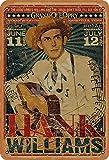 Hank Williams Country Music Blechschild Metall Plakat