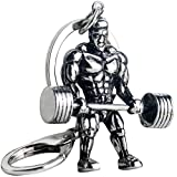 Fitness Hand Hold Dumbbells Pendant Keychains Sports Stainless Steel Key Chains Jewelry Christmas Birthday Gifts