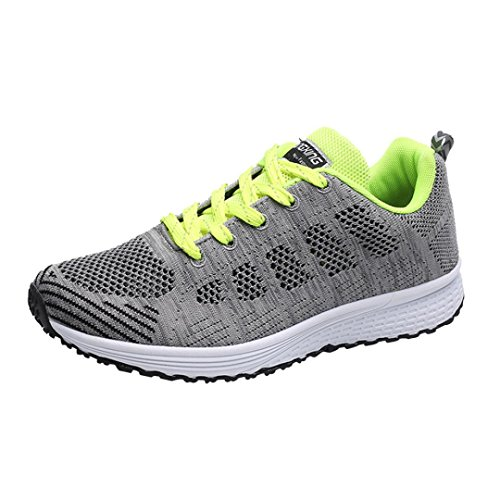 LUCKDE Schuhe Sneakers Herren, Textil Schuhe Footballschuhe Trekking Sportschuhe Turnschuhe Gymschuhe Herrenschuhe Herrenschuhe Sommerschuhe Atmungsaktiv Baseballschuhe (41 EU, Grün)