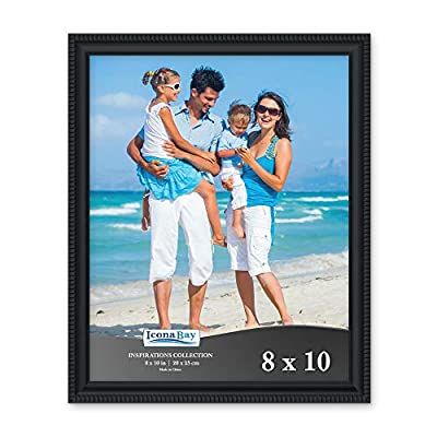 Icona Bay 8x10 Picture Frame (Black, 1 Pack) Beautifully Detailed Molding, Picture Frame Set, Wall Mount or Table Top, Inspirations Collection
