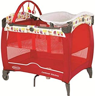Graco Baby Contour Electra Travel Cot, Garden Friends Red 1881930