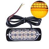 Garneck Camion Allarme universale Auto Spie di emergenza 12-LED 36W Attenzione LED Costruz...