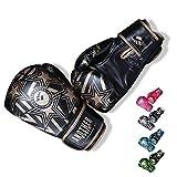 OLYSPM Guantes de Boxeo para niños|4oz-14oz|para Entrenamiento,Combate,Kickboxing,Lucha|Guantes de Box Color múltiple(Negro)