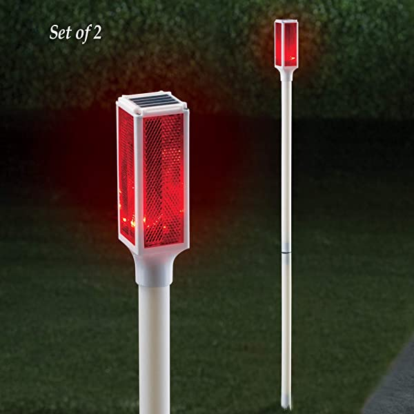 Collections Etc Solar Driveway Marker Lights Set Of 2