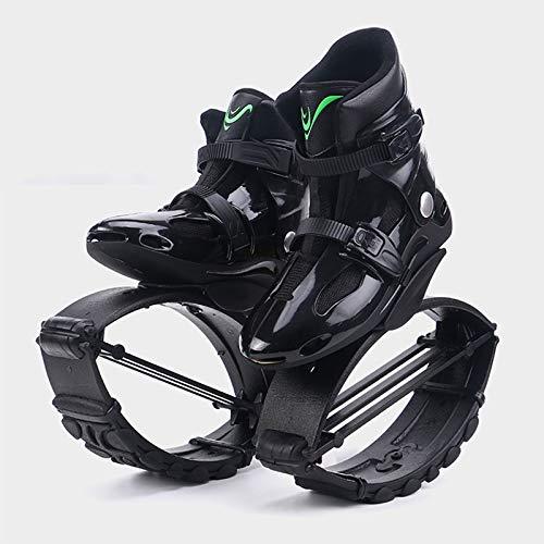Xin Hai Yuan Kangaroo - Zapatos de salto para adelgazar zapatos de deporte de rebote de fitness zapatos de saltar tonificación zapatos de cuña zapatillas de mujer para hombre, color negro, XXL