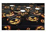 Boland Juego de vajilla de Halloween – 6 Vasos + 6 Platos + 12 servilletas + Mantel, Multicolor, 25-Teilig (72308)