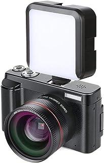 Mengen88 Cámara Vlogging cámara Full HD 1080p 24.0MP Pantalla IPS de 3.0 Pulgadas Zoom Digital 16x grabadora de cámara con función Anti-vibración y micrófono