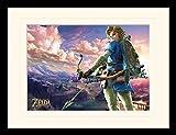 1art1 The Legend of Zelda - Breath of The Wild, Hyrule Landschaft Gerahmtes Bild Mit Edlem Passepartout | Wand-Bilder | Kunstdruck Poster Im Bilderrahmen 40 x 30 cm