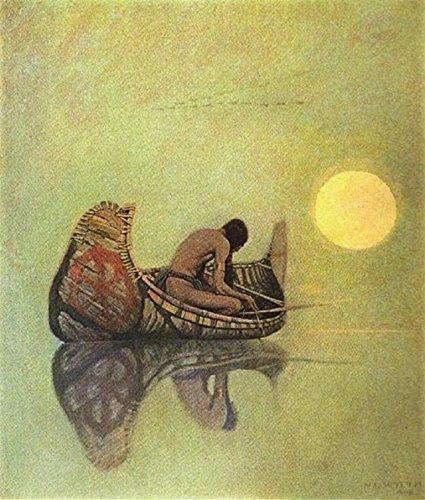 N. C. Wyeth The Silent Fisherman : Indian Brave Circa 1922 Art Print